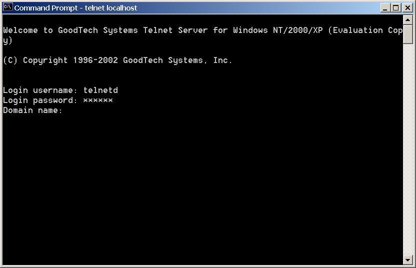 Telnet Server for Windows NT/2000/XP/2003 - Telnet Server for Windows NT/2000/XP
